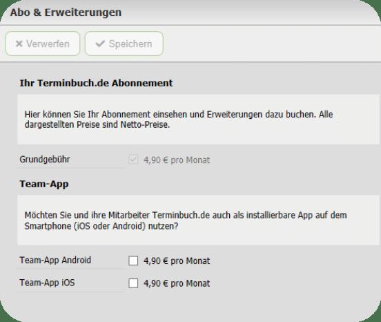Terminbuch.de Team App Aktivierung 2